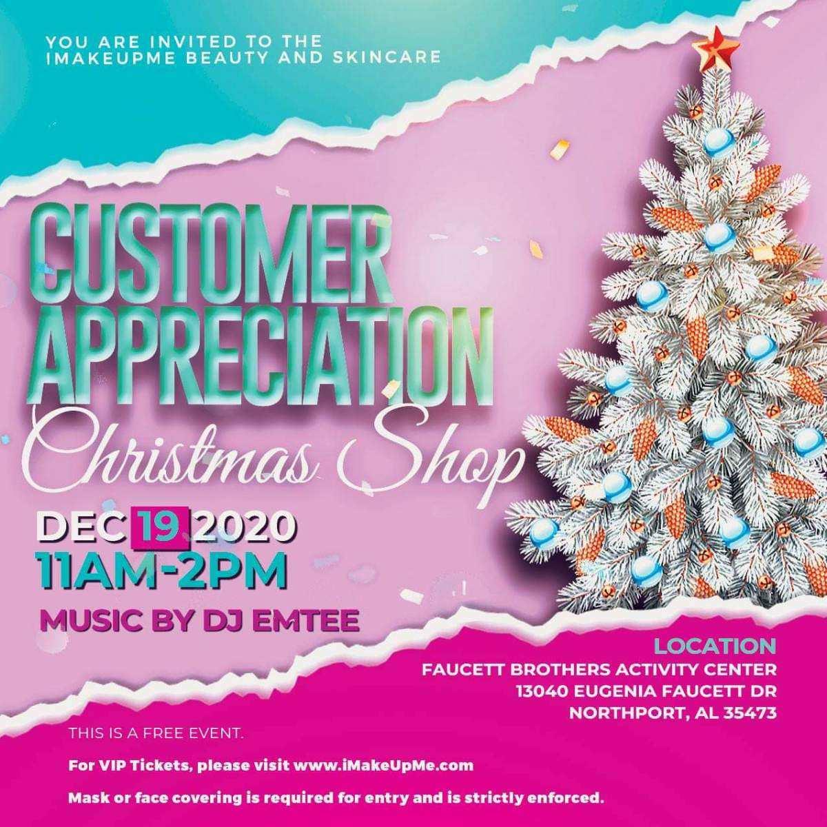 Customer Appreciation Christmas Shop Event
