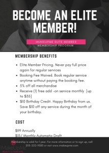 Elite Member Pricing. Never pay full price again for regular servicesBooking Fee Waived. Book regular service anytime without paying the booking fee. 5% off all merchandise Receive (1) free add -on servi