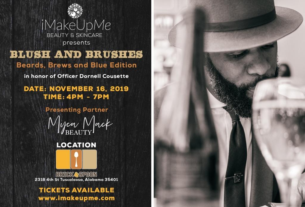 Blush and Brushes: Beards, Brews and Blue Edition